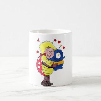 """Lady Bug"" holding stuffed animal! Classic White Coffee Mug"