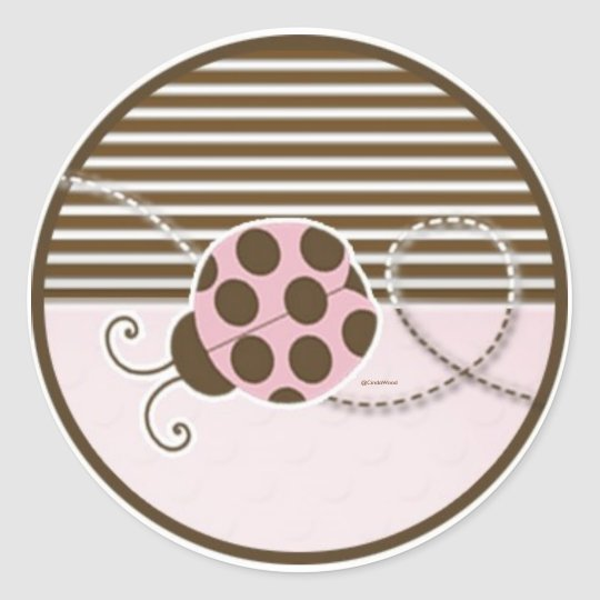 Lady Bug in Pink Sticker