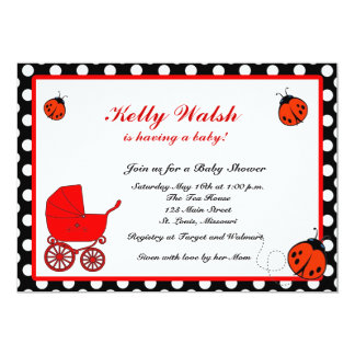 Lady Bug Love Baby Shower Invitation
