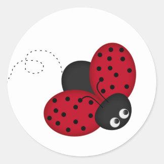 lady bug luck Sticker
