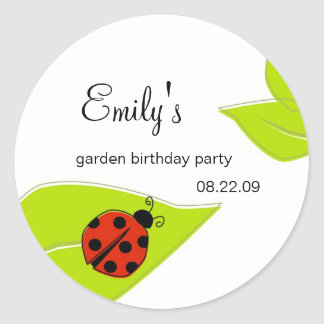 Lady Bug Party Label