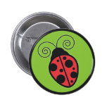Lady Bug Pinback Buttons
