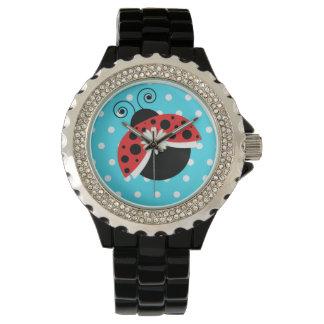Lady Bug Polka Dot Daisy Wrist Watch Ladybug