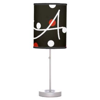 Lady Bug Print Lamp