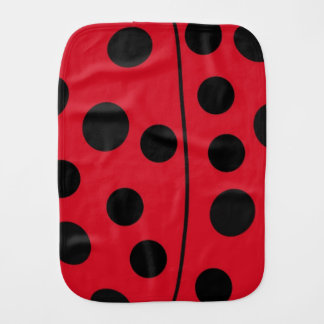 Lady Bug Red and Black Design Baby Burp Cloths