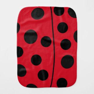 Lady Bug Red and Black Design Burp Cloth