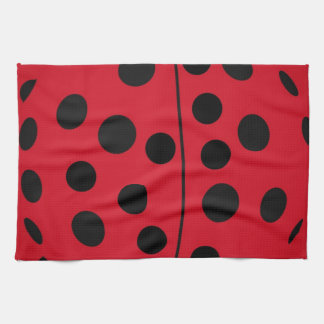 Lady Bug Red and Black Design Kitchen Towel