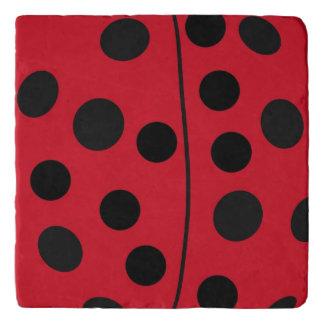 Lady Bug Red and Black Design Trivet