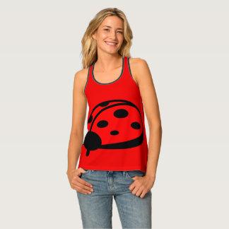 Lady Bug  Red Women's Racerback Tank Top