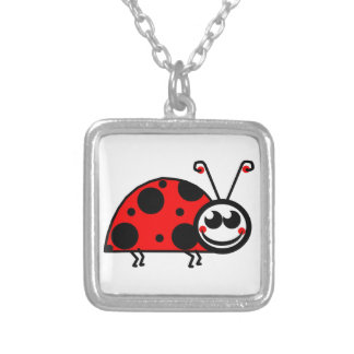 Lady Bug Silver Plated Necklace