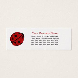 Lady Bug Skinny Business Card