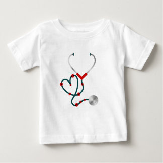 Lady Bug Stethoscope Nurse Doctor Baby T-Shirt