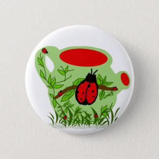 Lady bug tea pot button