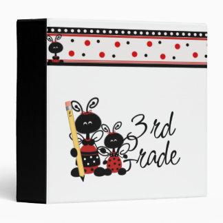 Lady Bug Third Grade 3 Ring Binders