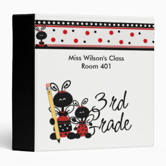 Lady Bug Third Grade Vinyl Binder