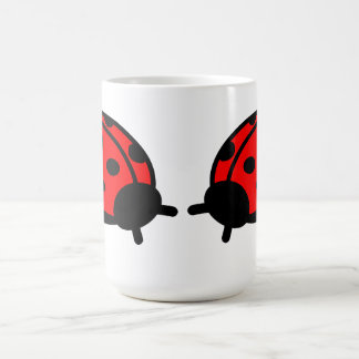 Lady Bug White Mug