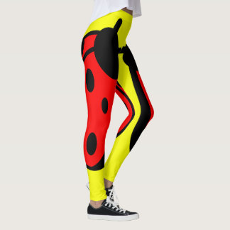 Lady Bug Yellow Leggings