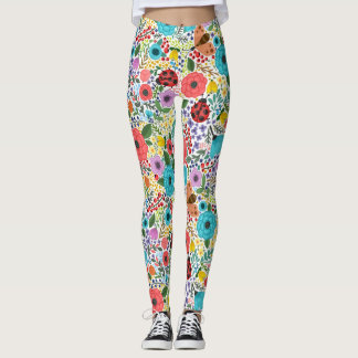 Lady Bugs and Flowers Leggings