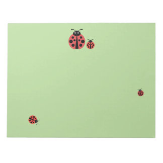 Lady Bugs Notepad