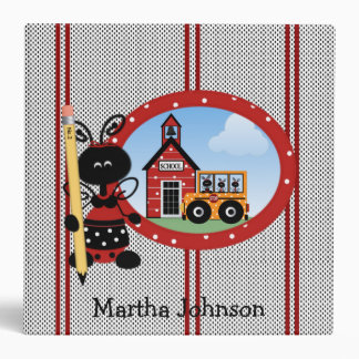 Lady Bugs Teacher's Class Planner Vinyl Binder