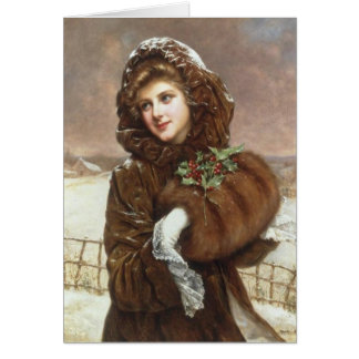 Lady Bundled Up for Winter, Card