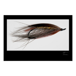 Lady Caroline Salmon Fly Poster