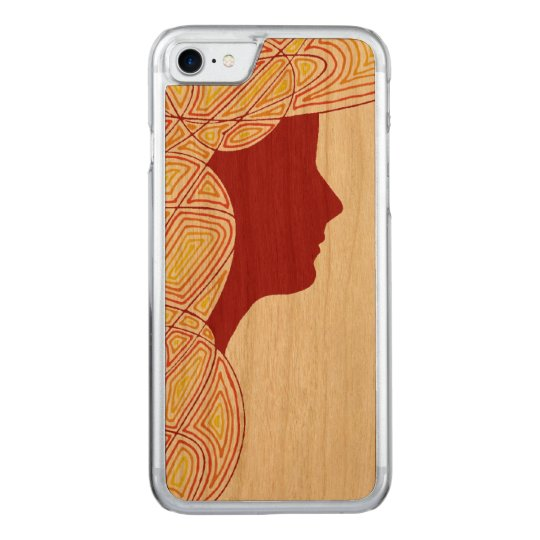 Lady Carved iPhone 7 Case