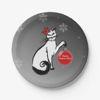 Lady Cat Paper Plate