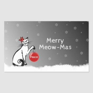 Lady Cat shows your Christmas wishes! Sticker