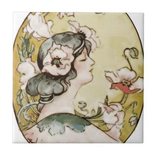 lady ceramic tile