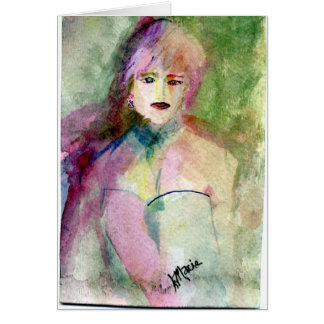Lady Di whimsical portraiture Card