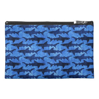 Lady Diver Blue Sharks in the Ocean Travel Accessories Bags