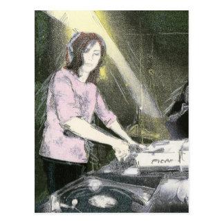 Lady DJ Postcard