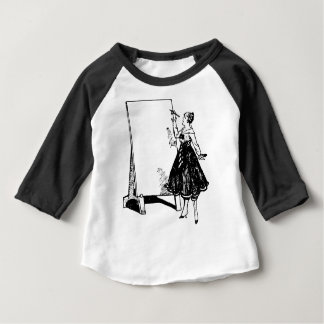 Lady Drawing Baby T-Shirt