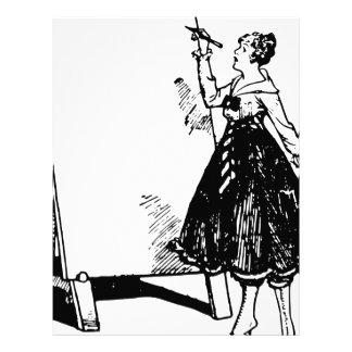 Lady Drawing Letterhead