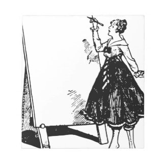 Lady Drawing Notepad