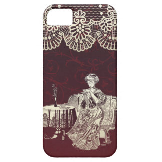 lady drinks tea case for the iPhone 5