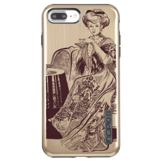 lady drinks tea incipio DualPro shine iPhone 8 plus/7 plus case