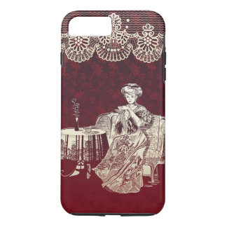 lady drinks tea iPhone 8 plus/7 plus case