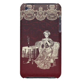 lady drinks tea iPod touch cover