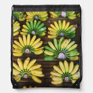 Lady Finger Bananas ~ Egg Banana (กล้วยไข่) Drawstring Backpacks