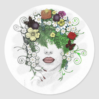 Lady Flora Stickers