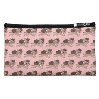 Lady Frenchie is going out for a walk Cosmetic Bag