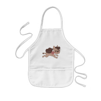 Lady Frenchie is going out for a walk Kids Apron