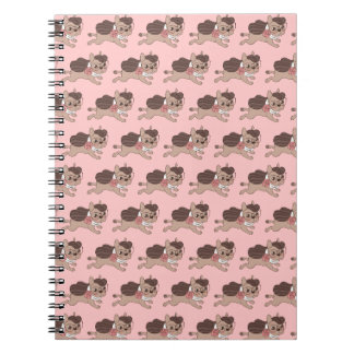Lady Frenchie is going out for a walk Notebooks