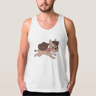 Lady Frenchie is going out for a walk Tank Top
