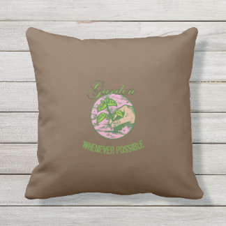 Lady Gardener's Creed Throw Pillow