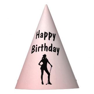 Lady Golf Birthday Party Hat