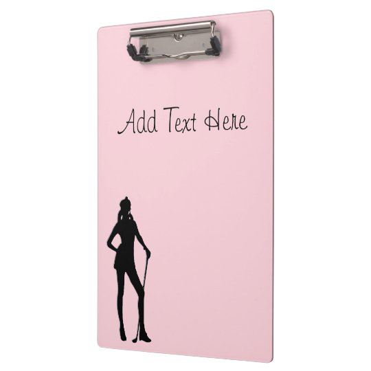 Lady Golf Pink Sport Custom Front and Back Clipboard