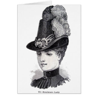 """Lady"" Greeting Card"